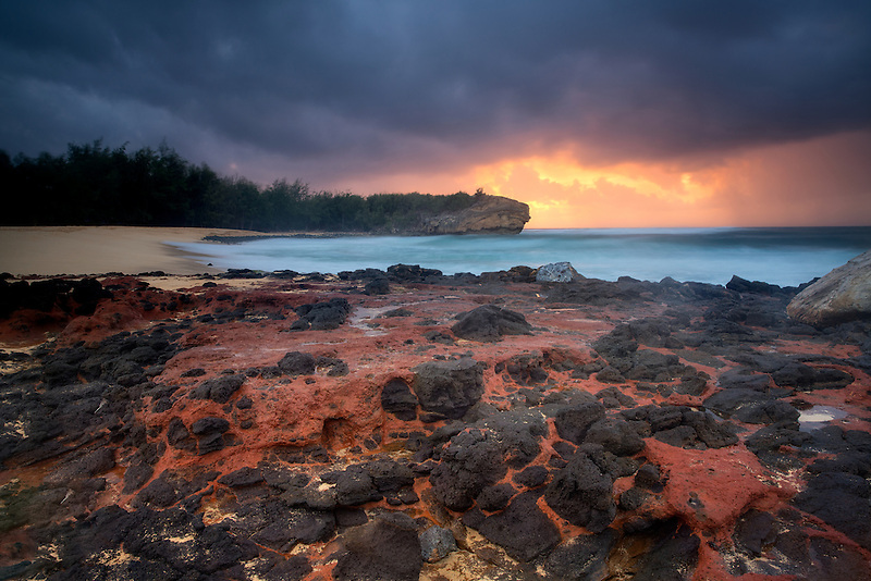 Sunrise at Shipwreck Beach, Kauai, Hawaii