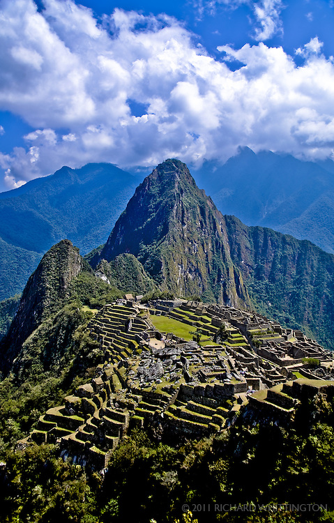 A beautiful view of Machu Pichu.