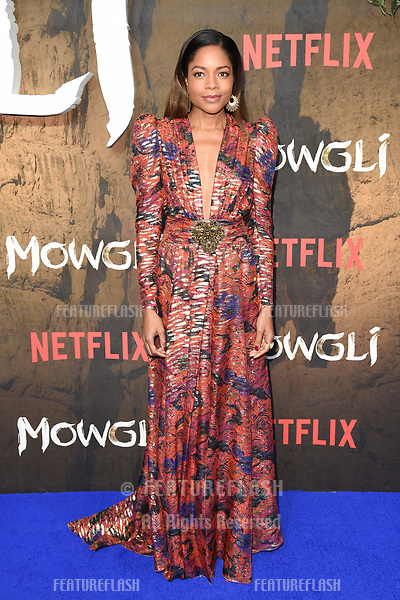 "LONDON, UK. December 04, 2018: Naomie Harris at the""Mowgli: Legend of the Jungle"" premiere at the Curzon Mayfair, London.<br /> Picture: Steve Vas/Featureflash"