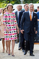 Queen Mathilde &  King Philippe of Belgium at the Royal Park, on National Day - Belgium