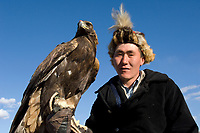 Kazakh men at Altai Eagle festival