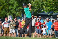 Webb Simpson (USA) watches his tee shot on 12 during 1st round of the 100th PGA Championship at Bellerive Country Cllub, St. Louis, Missouri. 8/9/2018.<br /> Picture: Golffile | Ken Murray<br /> <br /> All photo usage must carry mandatory copyright credit (© Golffile | Ken Murray)
