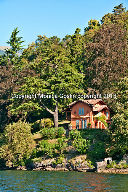 Part of Villa Cassinella, located near the town of Lenno, on Lake Como, Italy