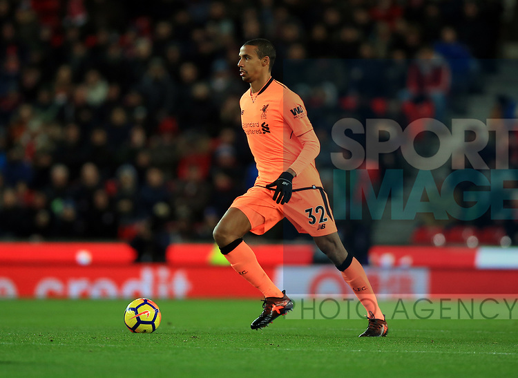Joel Matip of Liverpool during the premier league match at the bet365 Stadium, Stoke on Trent. Picture date 29th November 2017. Picture credit should read: Clint Hughes/Sportimage