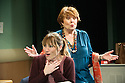 London, UK. 25.09.2013. THE LYONS, by Nicky Silver, opens at the Menier Chocolate Factory. Directed by Mark Brokaw, with lighting design by Jason Taylor and set and costume design by Jonathan Fensom. Picture shows: Charlotte Randle (Lisa Lyons) and Isla Blair (Rita Lyons). Photograph © Jane Hobson, 2013.