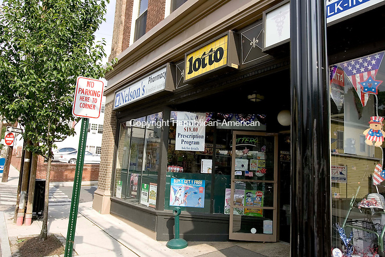 NAUGATUCK, CT --JUNE 16, 2008-061608JS01-Nelsons Pharmacy on Maple Street in Naugatuck was robbed on Sunday. <br /> Jim Shannon/Republican-American