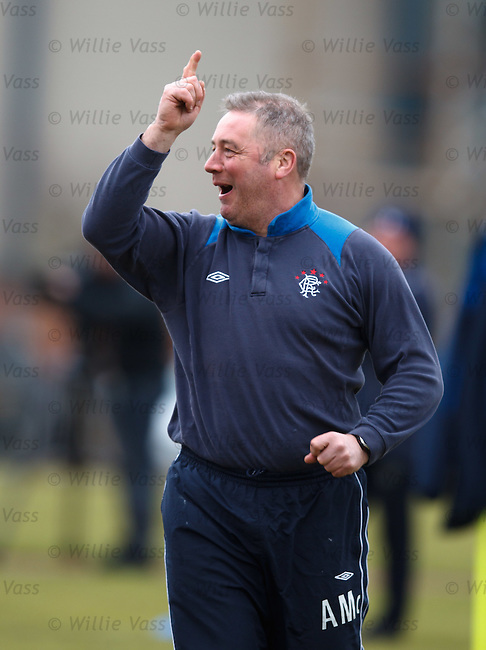 Ally McCoist competing against hiis players