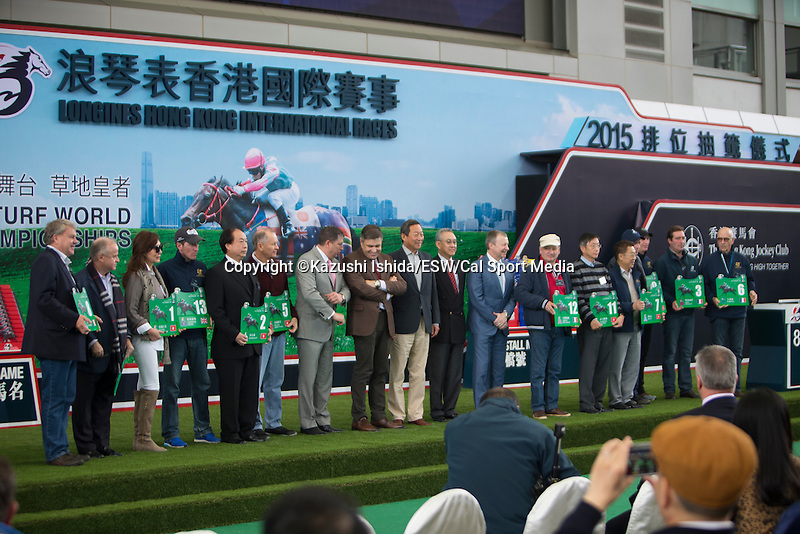 DEC 10,2015: LONGINES Hong Kong International Races Barrier Draw (Hong Kong Vase)at Sha Tin in New Territories,Hong Kong. Kazushi Ishida/ESW/CSM