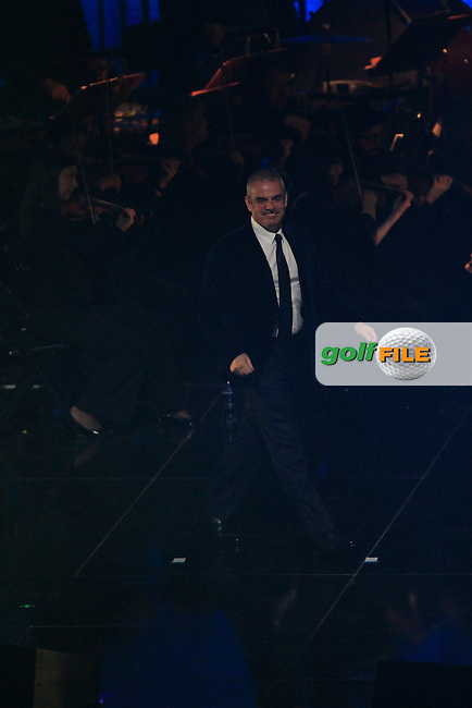 Paul McGinley (Captain) during the Ryder Cup Gala Concert 2014 at SSE Hydro on Wednesday 24th September 2014.<br /> Picture:  Thos Caffrey / www.golffile.ie