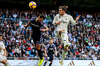 Real Madrid's Gareth Bale and Real Valladolid's Javier Moyano during La Liga match between Real Madrid and Real Valladolid at Santiago Bernabeu Stadium in Madrid, Spain. November 03, 2018. (ALTERPHOTOS/A. Perez Meca)<br /> Liga Campionato Spagna 2018/2019<br /> Foto Alterphotos / Insidefoto <br /> ITALY ONLY