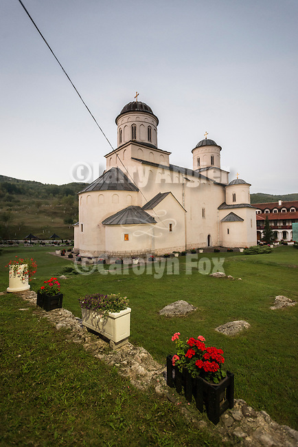 Church at the Monastery Mileševa, Serbia originally built in the 13th century... Morning exterior of church--Asension of Christ