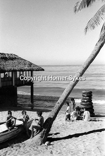 Beach cafe bar Mazatlan Mexico 1973.
