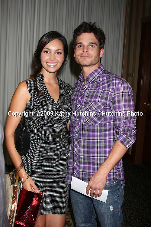 Emily O'Brien & Greg Rikaart  at The Young & the Restless Fan Club Dinner  at the Sheraton Universal Hotel in  Los Angeles, CA on August 28, 2009.©2009 Kathy Hutchins / Hutchins Photo.