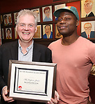 Ciaran O'Reilly and Obi Abili attends the 7th Annual Off Broadway Alliance Awards at Sardi's on June 20, 2017 in New York City.