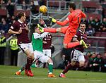 09.05.2018 Hearts v Hibs:  Jon McLaughlin clears