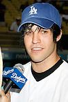 Pete Wentz at Dodger Stadium 9-2-09