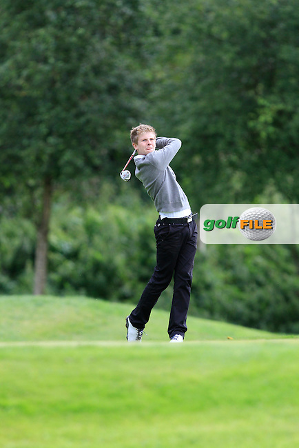 David Burns (Cushendall) on the 17th tee during round 2 of the Ulster Youths Amateur Open Championship in Balmoral Golf Club on Wednesday 6th August 2014.<br /> Picture:  Thos Caffrey / www.golffile.ie