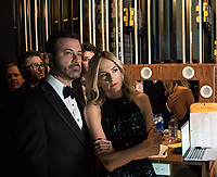 Host Jimmy Kimmel backstage during the live ABC Telecast of The 90th Oscars&reg; at the Dolby&reg; Theatre in Hollywood, CA on Sunday, March 4, 2018.<br /> *Editorial Use Only*<br /> CAP/PLF/AMPAS<br /> Supplied by Capital Pictures