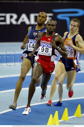 98. WILSON KIPKETER (DEN), Men's 800m Heat. IAAF World Indoor Championships, Birmingham National Indoor Arena 030314. Photo: Glyn Kirk/Action Plus...2003.athletics track and field athlete athletes man men distance