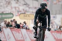Nairo Quintana (COL/Movistar) finishing<br /> <br /> 104th Tour de France 2017<br /> Stage 20 (ITT) - Marseille &rsaquo; Marseille (23km)