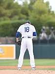 Kenta Maeda (Dodgers),<br /> MARCH 5, 2016 - MLB :<br /> Pitcher Kenta Maeda of the Los Angeles Dodgers prays on the mound before delivering in the second inning during a spring training baseball game against the Arizona Diamondbacks at Camelback Ranch-Glendale in Phoenix, Arizona, United States. (Photo by AFLO)