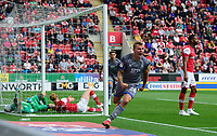 Lincoln City's Harry Anderson celebrates scoring his side's second goal<br /> <br /> Photographer Chris Vaughan/CameraSport<br /> <br /> The EFL Sky Bet Championship - Rotherham United v Lincoln City - Saturday 10th August 2019 - New York Stadium - Rotherham<br /> <br /> World Copyright © 2019 CameraSport. All rights reserved. 43 Linden Ave. Countesthorpe. Leicester. England. LE8 5PG - Tel: +44 (0) 116 277 4147 - admin@camerasport.com - www.camerasport.com