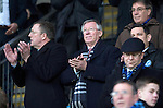 St Johnstone v Aberdeen.....07.12.13    SPFL<br /> Sir Alex Ferguson pictured alongside Roddy Grant and Chairman Steve Brown applauding for Nelson Mandela. He was invited by St Johnstone FC to mark the 50th anniversary of a famous game in the club's history when a young 'Fergie' scored hat-trick against Rangers at Ibrox on the 21st December 1963. Saints winning the game 3-2<br /> Picture by Graeme Hart.<br /> Copyright Perthshire Picture Agency<br /> Tel: 01738 623350  Mobile: 07990 594431