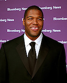 Washington, D.C. - April 29, 2006 -- Michael Strahan, defensive end for the New York Giants, arrives at the Embassy of the Republic of Macedonia in Washington, D.C. for the Bloomberg News party following the annual White House Correspondents Association (WHCA) dinner..Credit: Ron Sachs / CNP