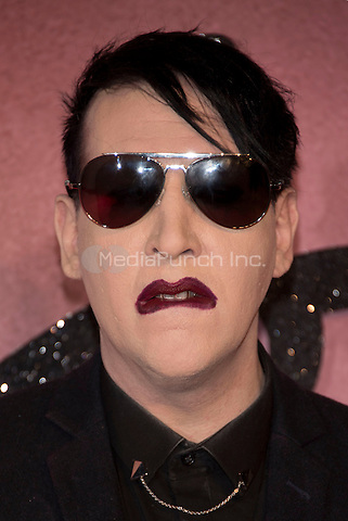 Marilyn Manson<br /> The Fashion Awards 2016 , arrivals at the Royal Albert Hall, London, England on December 05 2016.<br /> CAP/PL<br /> ©Phil Loftus/Capital Pictures /MediaPunch ***NORTH AND SOUTH AMERICAS ONLY***