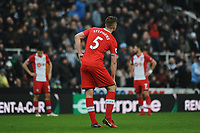 Dejected Southampton players after Matt Ritchie of Newcastle United goal. during Newcastle United vs Southampton, Premier League Football at St. James' Park on 10th March 2018