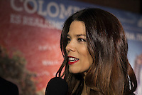 Colombian Juana Acosta poses during Juana Acosta tribute event in Madrid, Spain. January 27, 2015. (ALTERPHOTOS/Victor Blanco) /nortephoto.com<br />