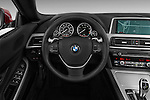 Steering wheel view of a 2014 BMW 6 Series Convertible 3A