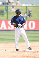 July 11, 2010: Everett AquaSox's Dwight Britton (12) during a Northwest League game against the Spokane Indians at Everett Memorial Stadium in Everett, Washington.