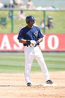 July 11, 2010: Everett AquaSox's Dwight Britton (12) during a Northwest League game against the Spokane Indians at Everett Memorial Stadium in Everett, Washington.