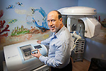 DOBBS FERRY, NY - FEBRUARY 03, 2011:  Dr. Edward Zuckerberg, D.D.S.,  father of Facebook founder Mark Zuckerberg, poses with an Evolution 4D in his dental practice on February 03, 2011 in Dobbs Ferry, NY.  The Evolution 4D is a 3D scanning/ milling system for same day crowns, inlays, onlays, and veneers.  (Photo by Michael Nagle)