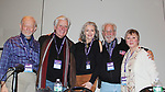 Original Cast plus reunion of Follies - Jonathan Tunick, Kurt Peterson, Denise Pence, Steve Boockvor, Mary Jane Houdina - Broadway Con 2018 at the Javits Center, New York City, New York on January 27, 2018. (Photo by Sue Coflin/Max Photo)