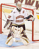 Molly Schaus (BC - 30) - The Boston College Eagles defeated the visiting Brown University Bears 5-2 on Sunday, October 24, 2010, at Conte Forum in Chestnut Hill, Massachusetts.