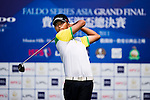 Lok Tin Liu tees off during the 2011 Faldo Series Asia Grand Final on the Faldo Course at Mission Hills Golf Club in Shenzhen, China. Photo by Raf Sanchez / Faldo Series
