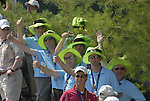 Colourful spectators on the 1st tee during the Singles on the Final Day of the Ryder Cup at Valhalla Golf Club, Louisville, Kentucky, USA, 21st September 2008 (Photo by Eoin Clarke/GOLFFILE)