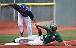 Palo Verde's Tyler Kim slides safely under the tag of Basic's Garrett Giles during the NIAA 4A baseball championship game in Reno, Nev., on Saturday, May 19, 2018. Palo Verde won 4-2. Cathleen Allison/Las Vegas Review-Journal