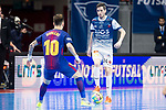 Barcelona Lassa Mario Rivillos and R. Renov. Zaragoza Adrian Ortego during Futsal Spanish Cup 2018 at Wizink Center in Madrid , Spain. March 16, 2018. (ALTERPHOTOS/Borja B.Hojas)
