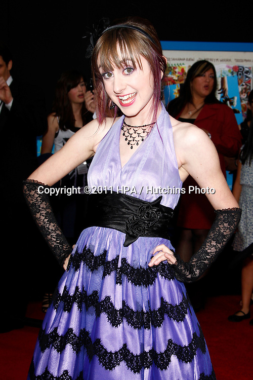 "LOS ANGELES - APR 21:  Allisyn Ashley Arm arriving at the ""Prom"" Premiere at El Capitan on April 21, 2011 in Los Angeles, CA"
