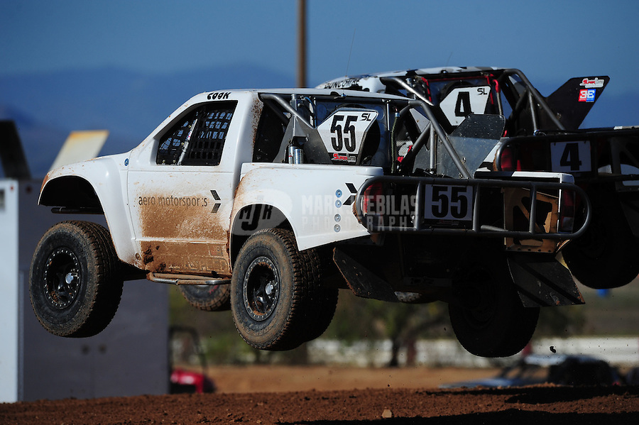 Apr 16, 2011; Surprise, AZ USA; LOORRS driver Matt Cook (55) during round 3 at Speedworld Off Road Park. Mandatory Credit: Mark J. Rebilas-.