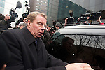Harry Redknapp and Milan Mandaric tax evasion trial - juror considering verdicts today 8.2.12.Harry Redknapp fights his way to his car after being acquitted mobbed by well-wishers and press.....Pic by Gavin Rodgers/Pixel 8000 Ltd