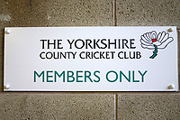 General view of the Yorkshire County Cricket Club sign during Yorkshire CCC vs Essex CCC, Specsavers County Championship Division 1 Cricket at Emerald Headingley Cricket Ground on 13th April 2018