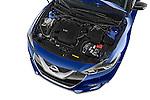 Car Stock2016 Nissan Maxima SV 4 Door Sedan Engine high angle detail view