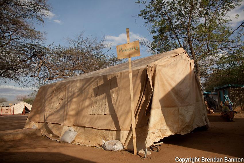 Pedeatric tent in MSF hospital in Dadaab refugee camp in northern Kenya.