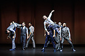 "London, UK. 20.04.2016. Balletboyz present the world premiere of their new production, ""Life"", at Sadler's Wells before embarking on a UK tour. The production features two new commissions by Javier de Frutos (""Fiction"") and Pontus Lidberg (""Rabbit""). The dancers are: Andreu Carruciu, Bradley Waller, Edward Pearce, Flavien Esmieu, Harry Price, Jordan Robson, Matthew Rees, Matthew Sandiford, Simone Donati, Marc Galves. The piece shown is: Rabbit, by Pontus Lidberg. Photograph © Jane Hobson."