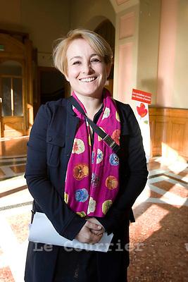 Genève, le 21.02.2009.Mme Véronique Pürro.© Le Courrier / J.-P. Di Silvestro