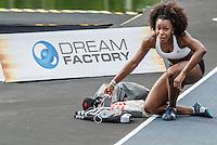 RIO DE JANEIRO, RJ, 04.06.2016 - MANO A MANO - Atleta brasileira Rosângela Oliveira no aquecimento, durante o desafio Mano a Mano, na Quinta da Boa Vista, na manhã deste sábado, 04.  (Foto: Jayson Braga/Brazil Photo Press)